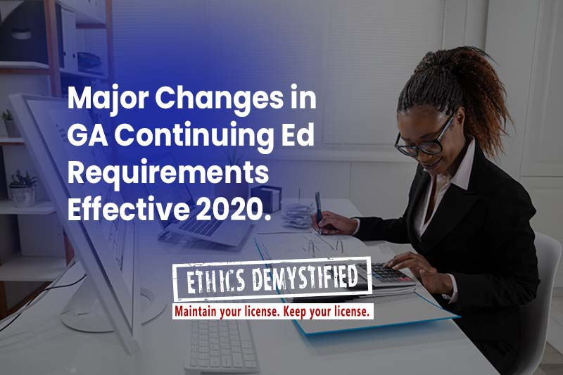 Revolutionary Changes in Georgia Continuing Ed Requirements